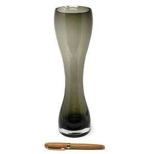 Vintage Accents - Vintage Tall Smoky Glass Vase